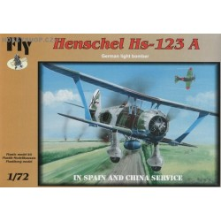 Henschel Hs 123A in Spain and China - 1/72 kit