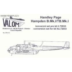 H.P. Hampden Conversion & Weapons Set - 1/72 conversion set