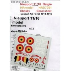 Nieuport 11/16 Belgium - 1/72 decal
