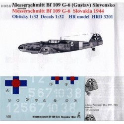 Messerschmitt Bf 109G-6 Slovak A.F. - 1/32 decal