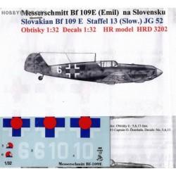 Messerschmitt Bf 109E Slovak A.F. - 1/32 decal