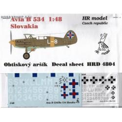 Avia B-534 Slovakia - 1/48 decal