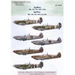 Spitfire Mk.Vb, VII, VIII, IXe - 1/48 decals