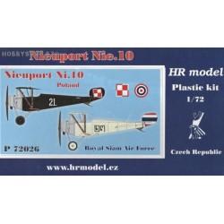 Nieuport Nie.10 Poland, Siam - 1/72 kit