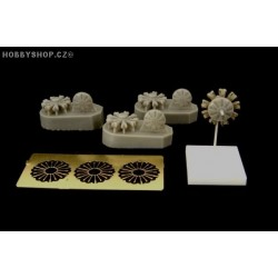 BMW 132 engine (3 pcs) - 1/144 update set